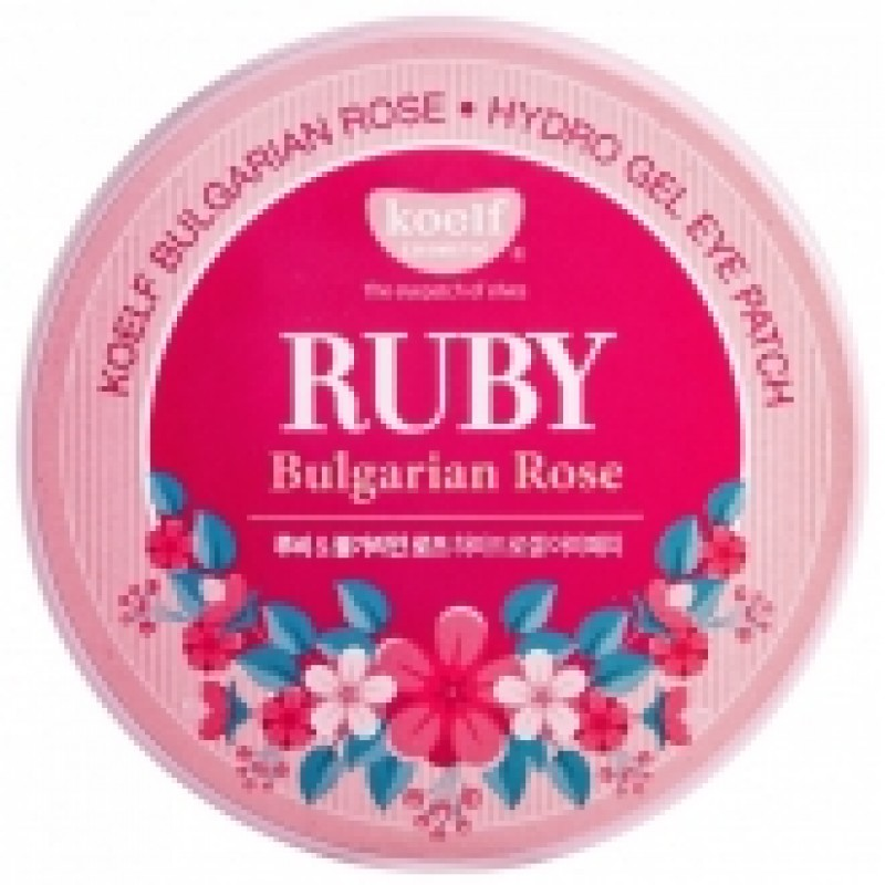 Гелевые патчи для глаз Koelf Hydro Gel Ruby Bulgarian Rose Eye Patch