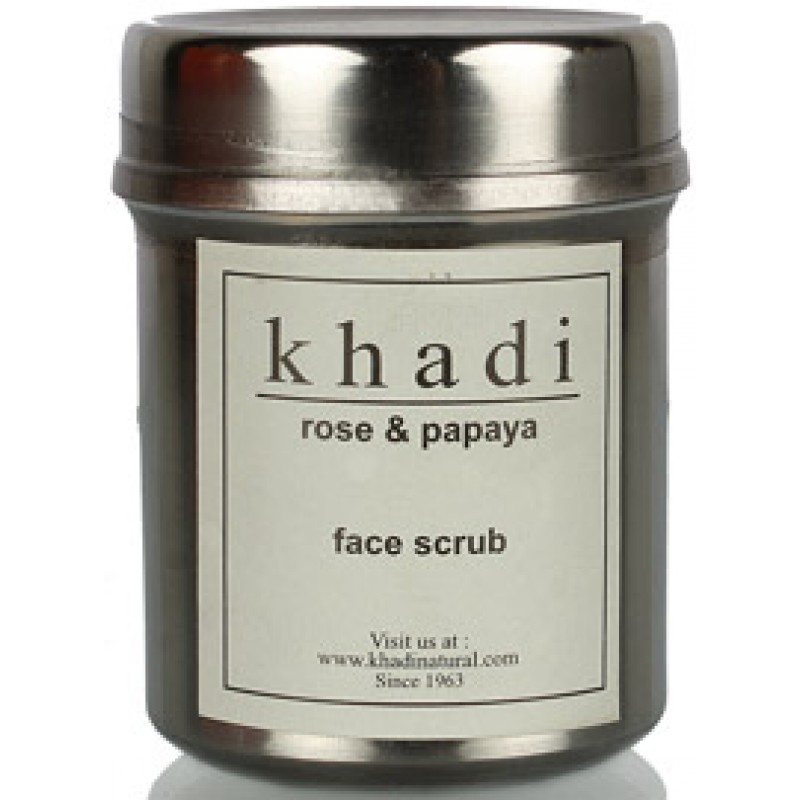 Скраб для лица «Роза и папайя» Кхади (Khadi face scrub «Rose Papaya») 50 гр