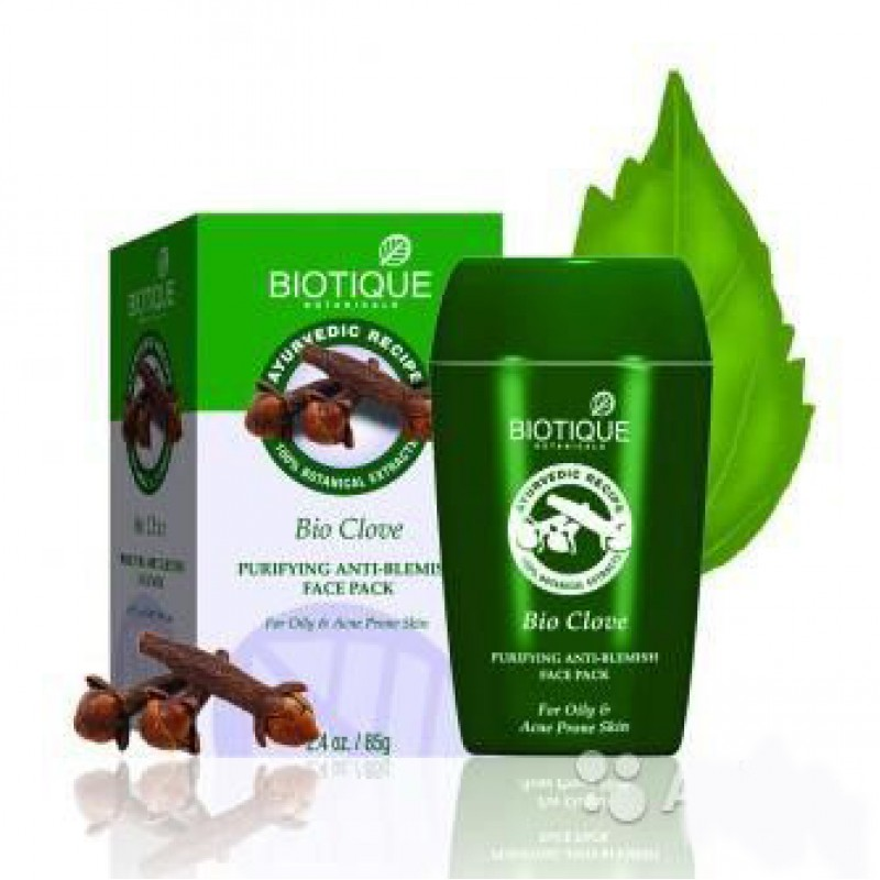Маска с гвоздичным маслом и дикой куркумой Biotique Bio Clove Purifying Face Pack 75 гр